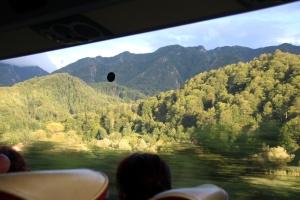 vistas por el autobus rumania