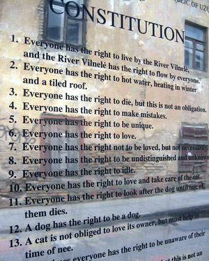 Constitución de uzupis