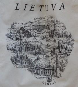 mapa Lituania ciudades