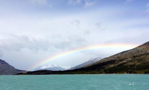 arco iris en los glaciares