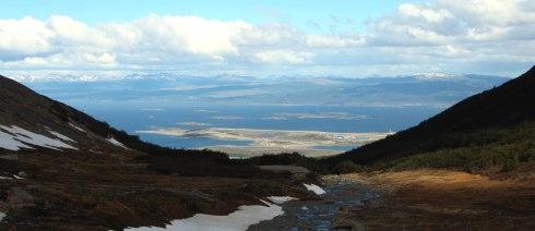 panoramica ushuaia desde Glaciar Martial 2