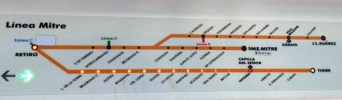 Linea de tren Mitre hasta Tigre, Buenos Aires