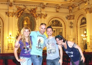 Los 4 en Casa Rosada