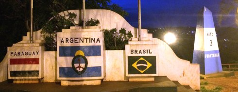 panoramica Hito de las 3 fronteras, iguazu