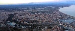 Panoramica Vista Aerea avión de Valencia