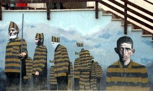 pintura mural, presidio Ushuaia
