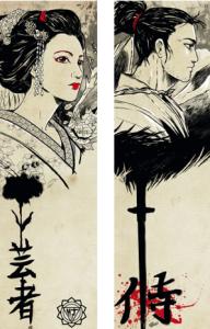 geisha-y-samurai-marcapáginas