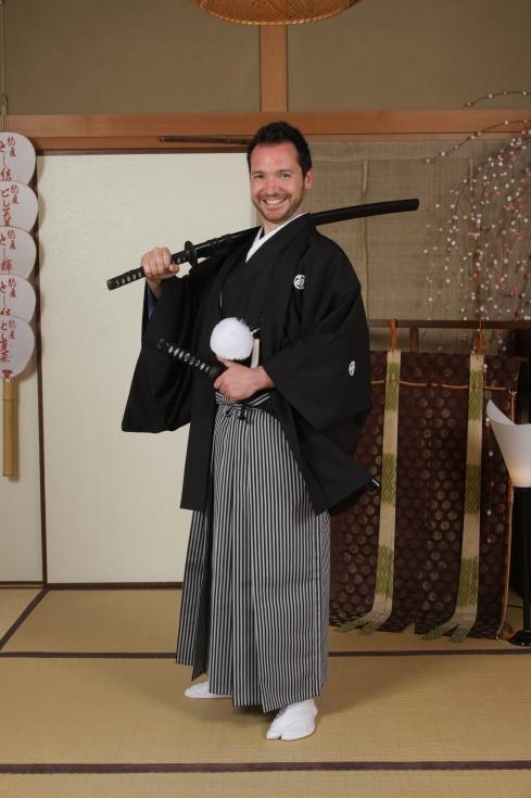 samurai transformación kimono