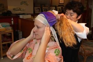 maiko transformacion, inicio maquillaje