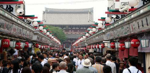 calle Nakamise, Templo Sensoji, Asakusa, Tokio