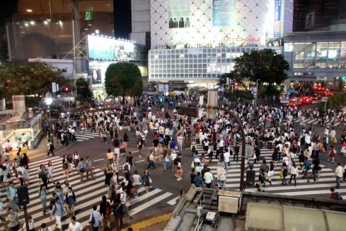 Cruce de peatones en Shibuya, Tokio