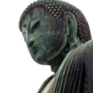 detalle rostro buda Daibutsu, Kamakura