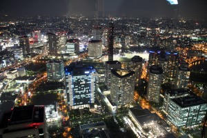 detalle vista nocturna Yokohama
