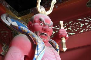 dios guerrero Nio, templo Taiyuin, Nikko