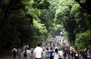 gente santuario Meiji, Harajuku, Tokio
