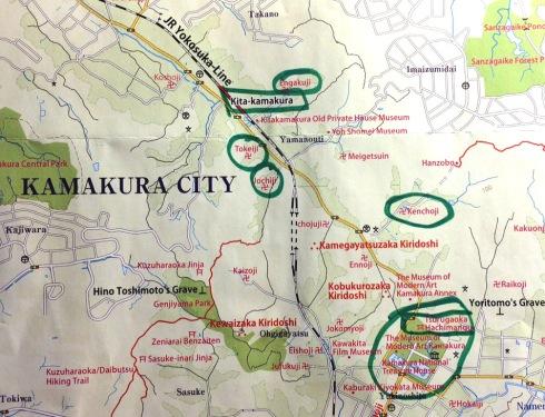 mapa templos kamakura