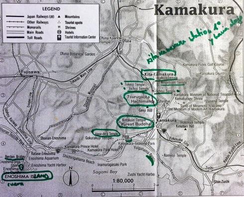mapa templos kita-kamakura 2