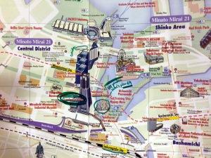 mapa Yokohama puerto