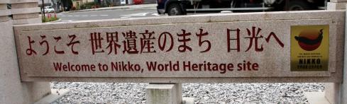 Nikko, patrimonio de la Humanidad, bienvenida