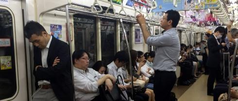panoramica metro interior vagon japon