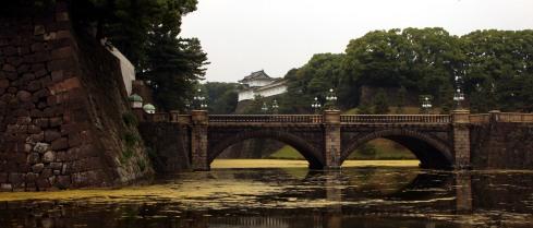 panoramica puente Nijubashi, palacio imperial tokio