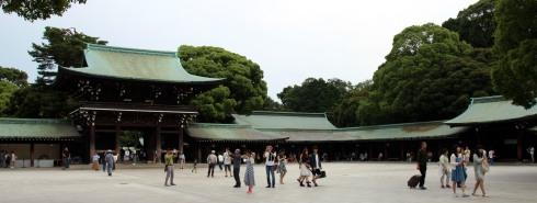 panoramica santuario Meiji, Harajuku, Tokio
