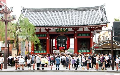 Puerta Kaminorimon, Templo Sensoji, Asakusa, Tokio