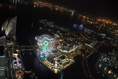 vista nocturna Yokohama