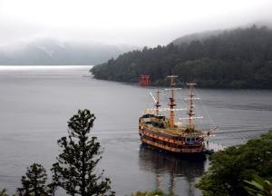vistas Lago Ashi desde Moto-Hakone