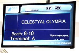 check in Celestyal Olympia