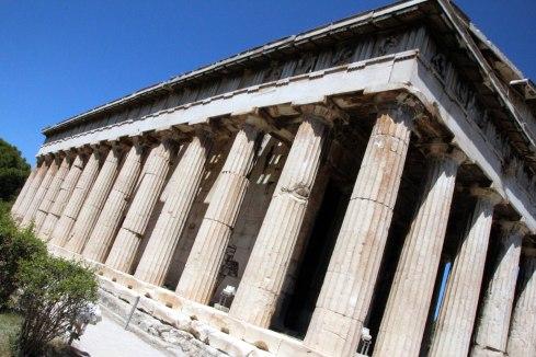 el Templo de Hefesto, columnas