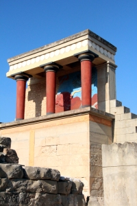 entrada norte, palacio de Cnossos