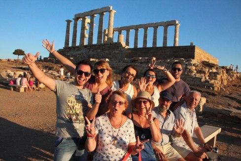 Familia Soucase, Templo de Poseidón, Sounio