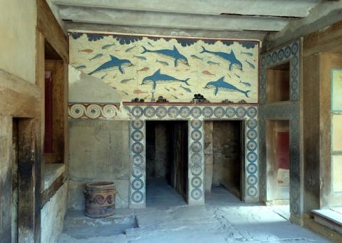Fresco delfines, Palacio de Cnossos