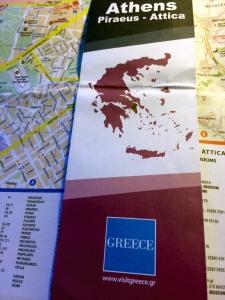 mapa Atenas, logo greece, visit greece