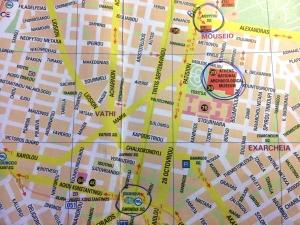 mapa bus sounio