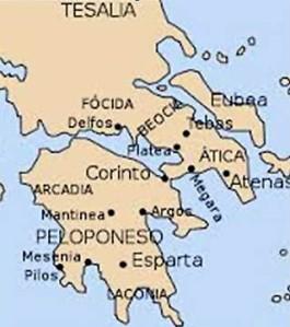 mapa Corinto