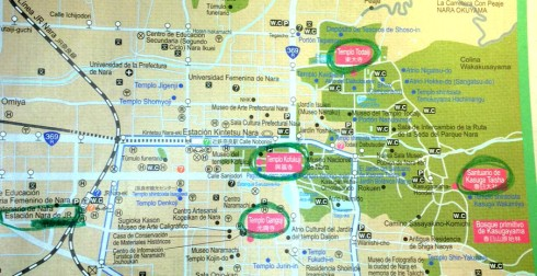 mapa este Nara