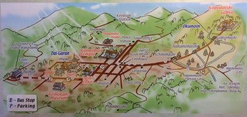 mapa Koyasan dibujo