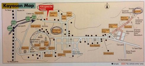 mapa Koyasan esquema