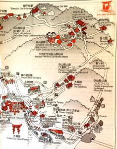 mapa Monte Misen y Miyajima