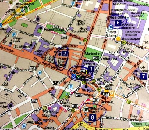 mapa Munich centro