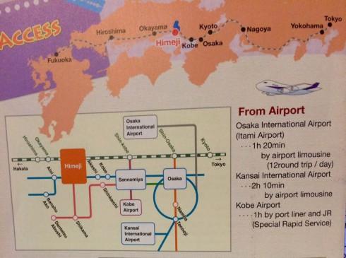 mapa tren Himeiji