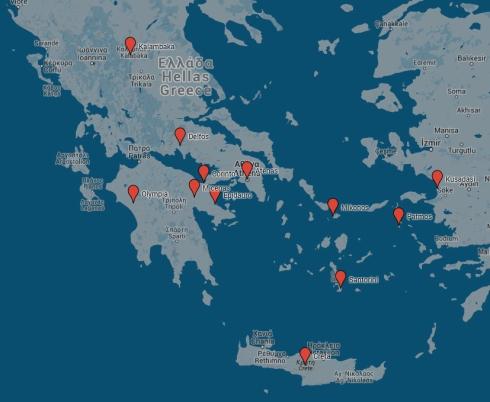 mapa viaje Grecia