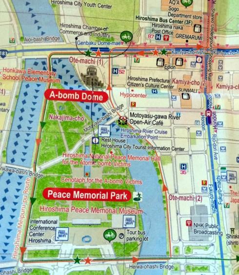 mapan Hiroshima, parque paz y alrededores
