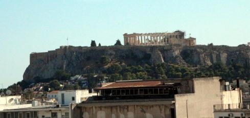 panoramica Acropolis vista desde el hotel Titania