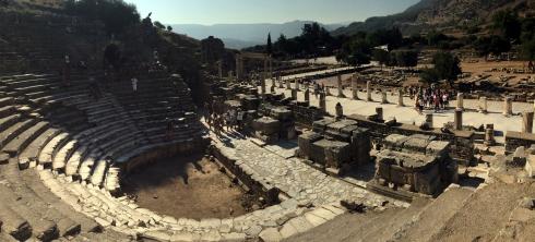 Panoramica El odeón de Efeso