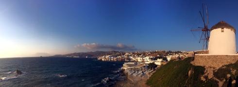 panoramica Los Molinos y el mar, Mikonos