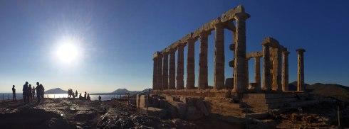 Panoramica Templo de Poseidón, Sounio