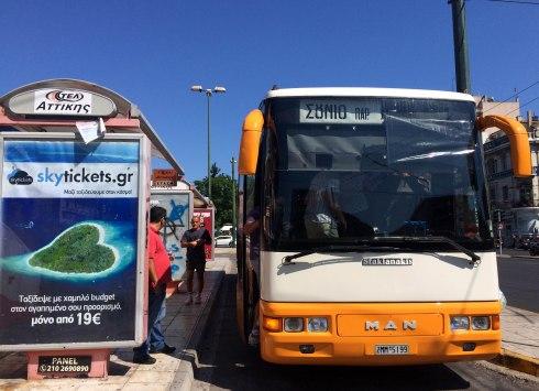 parada bus Atenas - Sounio